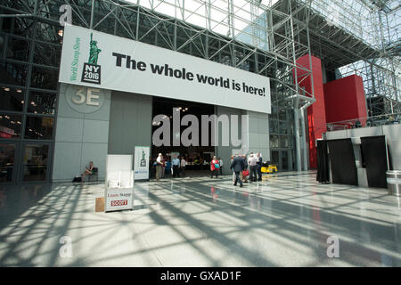 World Stamp Show-NY 2016 is the once-a-decade international celebration of stamp collecting in the NYC Javits Convention - Stock Photo