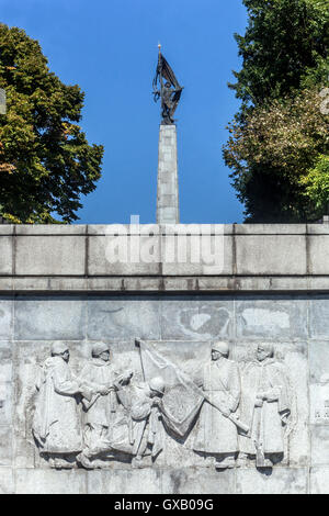 Hill Slavin, a monument to Soviet soldiers killed in World War II during the liberation of Bratislava, Slavín War - Stock Photo