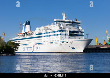 ST. PETERSBURG, RUSSIA-JUNE 17:  cruise ferry the Princess Maria sails from St. Petersburg to Helsinki,RUSSIA-JUNE17 - Stock Photo