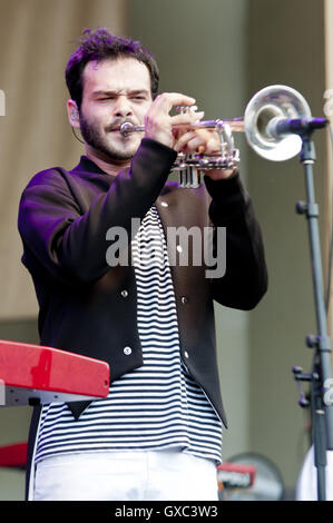Taste of Chicago 2016 at the Petrillo Band Shell - Day 1  Featuring: Donnie Trumpet Where: Chicago, Illinois, United - Stock Photo