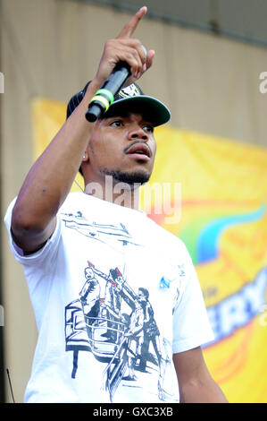 Taste of Chicago 2016 at the Petrillo Band Shell - Day 1  Featuring: Chance the Rapper Where: Chicago, Illinois, - Stock Photo