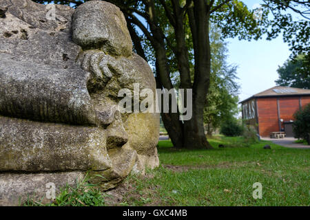 Sculpture in Pooley Country Park, Warwickshire, UK - Stock Photo