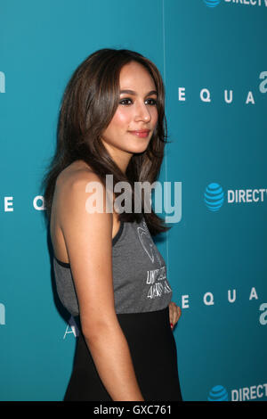 Premiere of A24's 'Equals' at ArcLight Hollywood - Arrivals  Featuring: Aurora Perrineau Where: Los Angeles, California, - Stock Photo