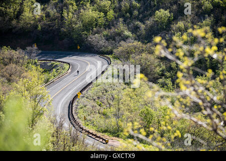 Biking in Emigration Canyon outside of Salt Lake City, Utah, USA - Stock Photo