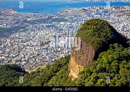 Maracana, Guanabara Bay, Rio–Niterói Bridge, Zona Norte, Tijuana, Rio de Janeiro, Brazil - Stock Photo