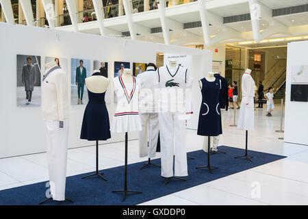 Locoste Exhibit at Westfield World Trade Center, Lower Manhattan, NYC,  USA - Stock Photo