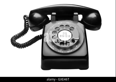 1950's Bell System Western Electric Rotary Telephone - Stock Photo
