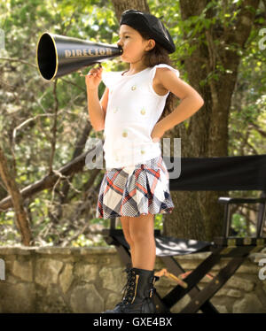 Young director on set - Stock Photo
