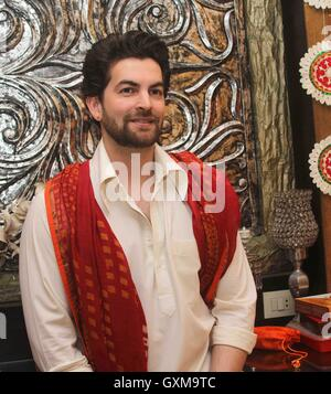 Bollywood actor Neil Nitin Mukesh during the Ganesh Chaturthi celebrations in Mumbai, India on September 5, 2016 - Stock Photo