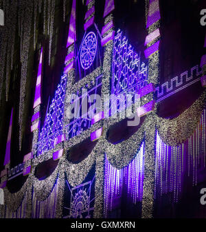 Christmas illuminations at Saks Fifth Avenue, New York, United States - Stock Photo