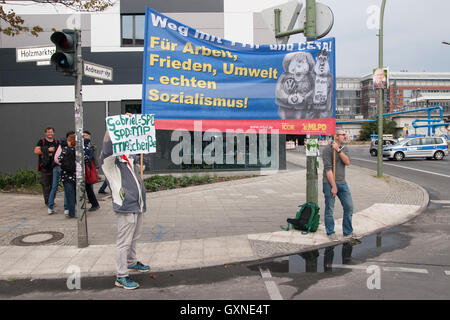 Berlin, Germany. 17th September, 2016. Demonstration against TTIP and CETA. - Stock Photo