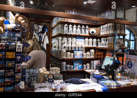 One of the two gift/souvenir shops in the famous Hofbräuhaus beer hall at Am Platzl in the old quarter of Munich - Stock Photo