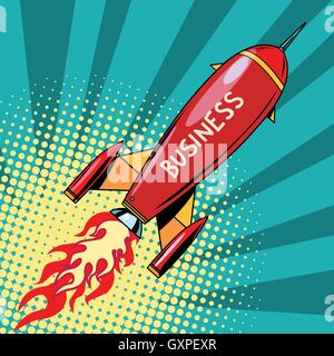 business startup rocket - Stock Photo