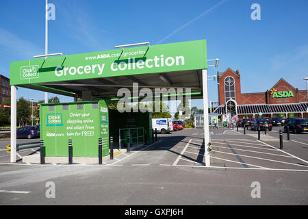 click and collect grocery collection point in asda store car park stock photo 120659024 alamy. Black Bedroom Furniture Sets. Home Design Ideas