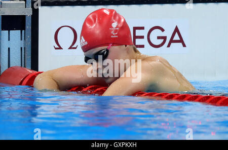 Great Britain's Hannah Russell finishes third in the Women's 100m Freestyle - S13 Final during the ninth day of - Stock Photo