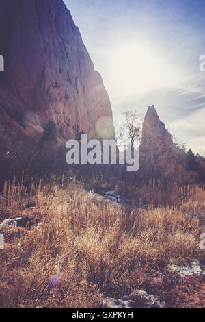 Morning Light at Garden of the Gods - Stock Photo