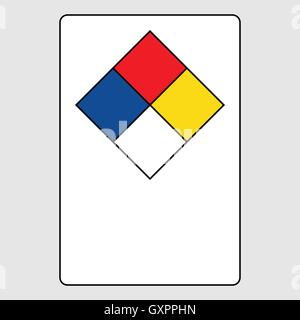 hazmat blank placards htm p nfpa diamond