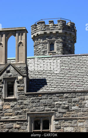 Hempstead House castle and museum Sands Point Preserve Long Island New York - Stock Photo