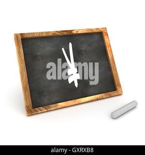 Blackboard Yen - Stock Photo