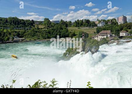 River Rhine Falls near Schaffhausen, Neuhausen am Rheinfall, Switzerland - Stock Photo