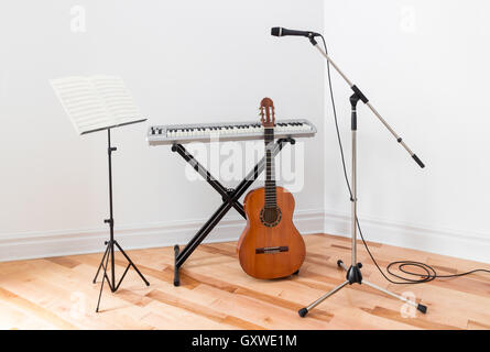 Musical instruments in a room - Stock Photo