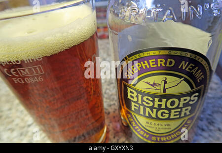 Glass of Bishops Finger Ale - Stock Photo