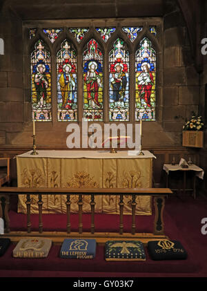St Wilfrids Church Grappenhall- Lady Chapel Altar,Warrington - Stock Photo
