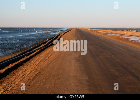 Saltpans, Walvis Bay, Namibia,  August 2016 - Stock Photo