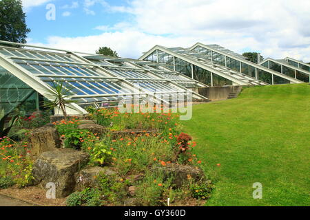 Princess of Wales conservatory glasshouses, Kew Gardens, Royal Botanic Gardens, London, England, UK - Stock Photo