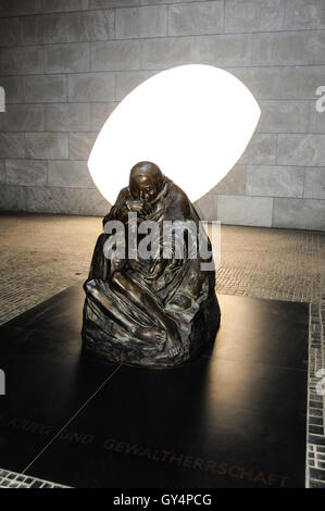 Berlin, Germany. Käthe Kollwitz's sculpture Mother with her Dead Son in the Neue Wache building. Since 1993 the - Stock Photo