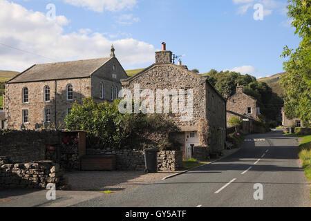 Gunnerside village in Swaledale, Yorkshire, UK - Stock Photo