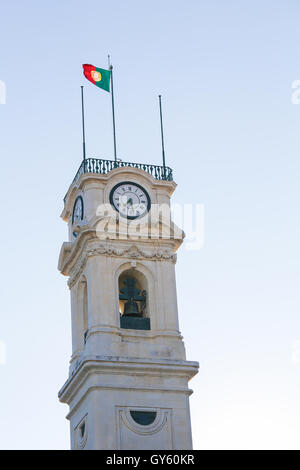Famous tower of the University of Coimbra, Portugal. - Stock Photo