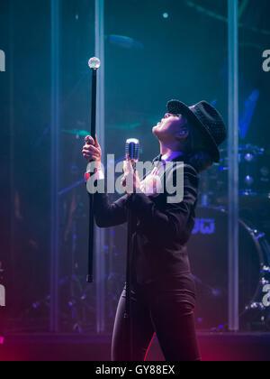 Las Vegas, Nevada, USA. 17th Sept, 2016. Glloria Trevi performs at The Chelsea at The Cosmopolitan of Las Vegas - Stock Photo