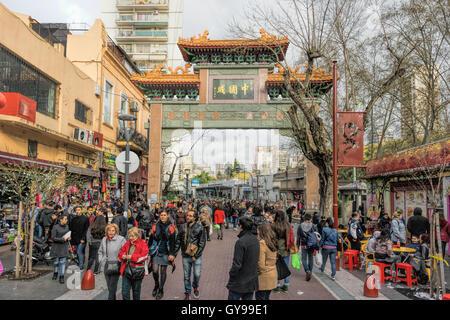 Argentina, Buenos Aires, Belgrano Neighborhood, China Town - Stock Photo