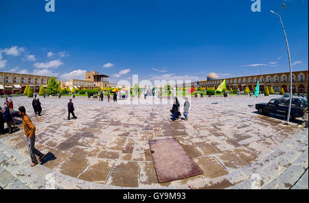 A view from Shah Mosque - Stock Photo
