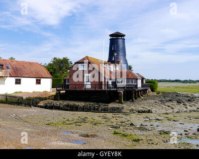 Langstone Mill at low tide, Hampshire, England - Stock Photo