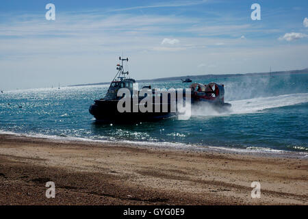 HOVERCRAFT, GH114, FREEDOM 90 ON APPROACH - Stock Photo