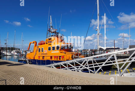 Yarmouth RNLI lifeboat Isle of Wight - Stock Photo