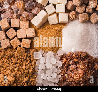 Some sorts of sugar - Stock Photo