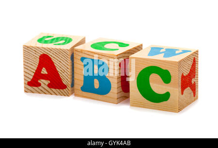 wooden blocks with abc letters stock photo