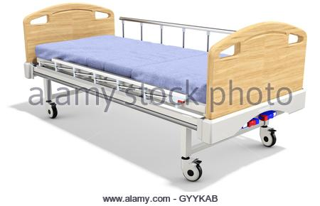 3d detailed mobile hospital bed with recliner on white background - Stock Photo  sc 1 st  Alamy & 3d detailed mobile hospital bed with recliner on white background ... islam-shia.org