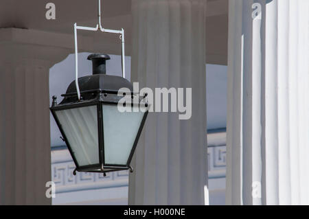 Simple lantern in classical Greek temple - Stock Photo