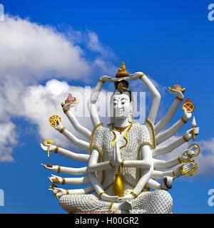 Guanyin indische Gottheit auf Koh Samui (Ko Samui), Thailand, Ko Samui | Guanyin Indian god on Koh Samui (Ko Samui), - Stock Photo