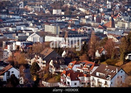 view to district Barmen, Germany, North Rhine-Westphalia, Bergisches Land, Wuppertal - Stock Photo