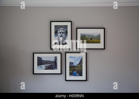 Four frames on white wall Stock Photo: 41924800 - Alamy