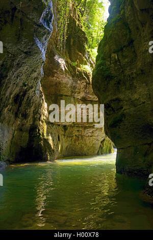 canyon of Grands Goulets, France, Auvergne-Rh¶ne-Alpes, Vercors National Park, Pont en Royans - Stock Photo