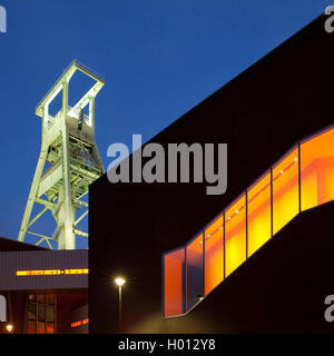 German Mining Museum with Black Diamand in the evening, Germany, North Rhine-Westphalia, Ruhr Area, Bochum - Stock Photo