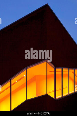 German Mining Museum, separate annexe 'Black Diamand' in the evening, Germany, North Rhine-Westphalia, Ruhr Area, - Stock Photo