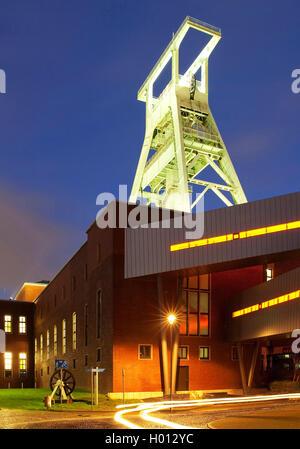 German Mining Museum in the evening, Germany, North Rhine-Westphalia, Ruhr Area, Bochum - Stock Photo