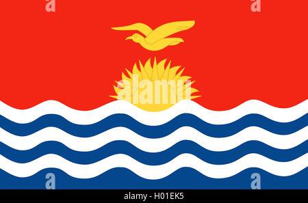 Flagge Kiribatis, Kiribati | flag of Kiribati, Kiribati | BLWS419225.jpg [ (c) blickwinkel/McPHOTO/K. Steinkamp - Stock Photo